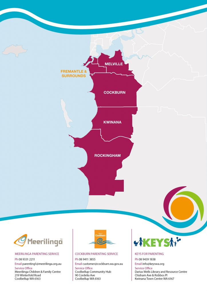 location map south west metro parenting service