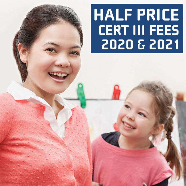50% off chc30113 certificate iii in early childhood education and care perth