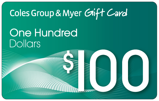10 people will win a 100 dollar coles myer gift card after enrolling in the early learning program