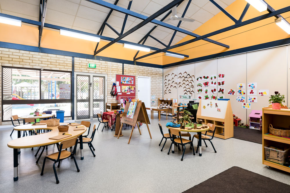 indoor learning environment of meerilinga kingsley early learning program