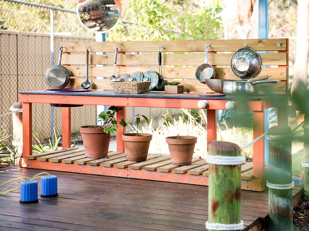 mud kitchen in meerilinga beechboro's early learning program