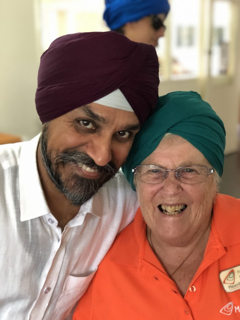 pat and surjeet celebrating harmony day at meerilinga cockburn