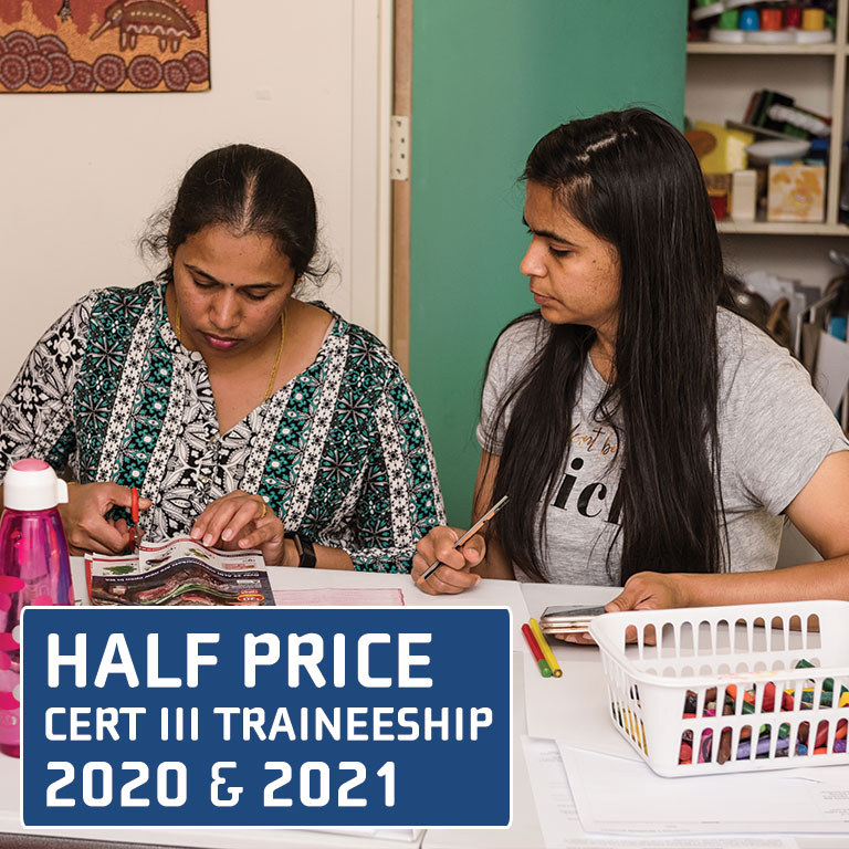 get half price fees in 2020 and 2021 for a cert III traineeship