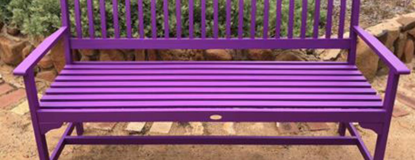 kingsley purple bench